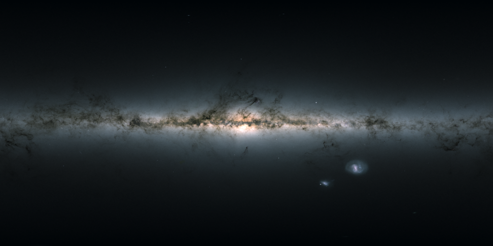 Gaia's sky in colour – equirectangular projection